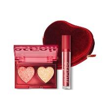 ESPOIR Glitter Bomb Palette+Lip Up Velvet #Coache Set 3items [2019 Holiday Colletction Love Bomb],Beauty Box Korea