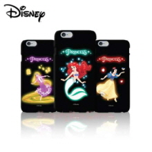 DISNEY 5Items Dancing Princess Neon Hard Phone Case,DISNEY