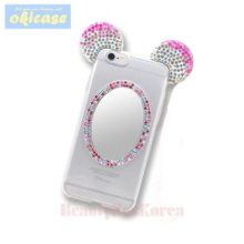OKICASE 3 Items Cubic Mouse Mirror Jelly Phone Case,OKICASE