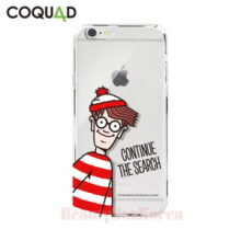 COQUAD Where's Wally Clear Phone Case Continue the Search,COQUAD