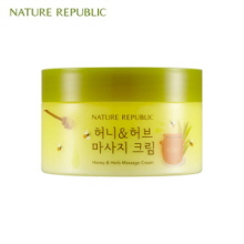 NATURE REPUBLIC Honey&Herb Massage Cream 215ml,NATURE REPUBLIC