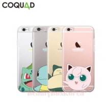 COQUAD 6Items Pokemon Cutie Clear Phone Case,COQUAD