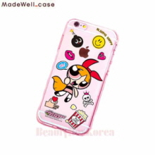 MADEWELL-CASE Power Puff Girls Clear Jelly Sticker Blossom,MADEWELL-CASE