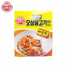 OTTOGI 3min Spicy Sauce With Pork Belly & Cuttle Fish 150g,OTTOGI