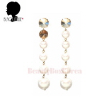 BLACKMUSE Unbalance Crystal And Pearl Drop Earrings 1pair,BLACKMUSE
