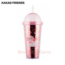 KAKAO FRIENDS Apeach Straw Tumbler 1ea (Hot pink),KAKAO FRIENDS