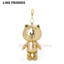 LINE FRIENDS Gold Brown Bag Charm Doll 1ea,LINE FRIENDS