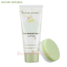 NATURE REPUBLIC Hair Removal Cream Cotton 60g,NATURE REPUBLIC