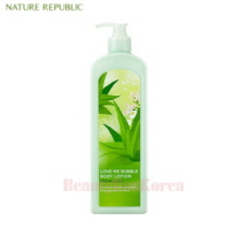 NATURE REPUBLIC Love Me Bubble Body Lotion Fresh Aloe 1000ml,NATURE REPUBLIC