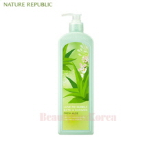 NATURE REPUBLIC Love Me Bubble Shower Gel Fresh Aloe 1000ml,NATURE REPUBLIC