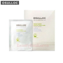 OSULLOC Natural Green Green Tea Sheet Mask 22ml*5ea,OSULLOC