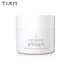 TIA'M Sebum Drying Black Bubble Pack 80ml,TIA'M