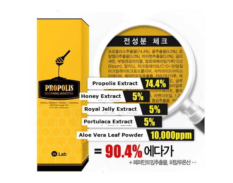 Beauty Box Korea - W LAB Propolis Soothing Booster 70ml