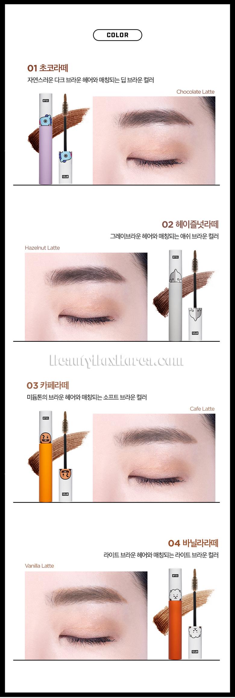Beauty Box Korea - VT COSMETICS BT21 Air Fit Tattoo Brow 7g[VTxBT21
