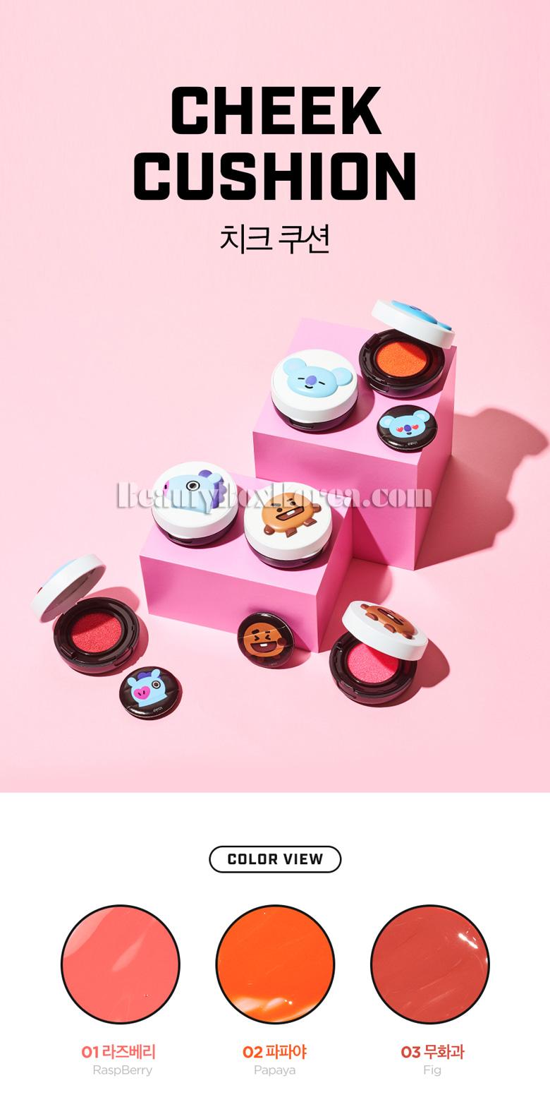 Beauty Box Korea - VT COSMETICS BT21 Cheek Cushion 6g[VTxBT21