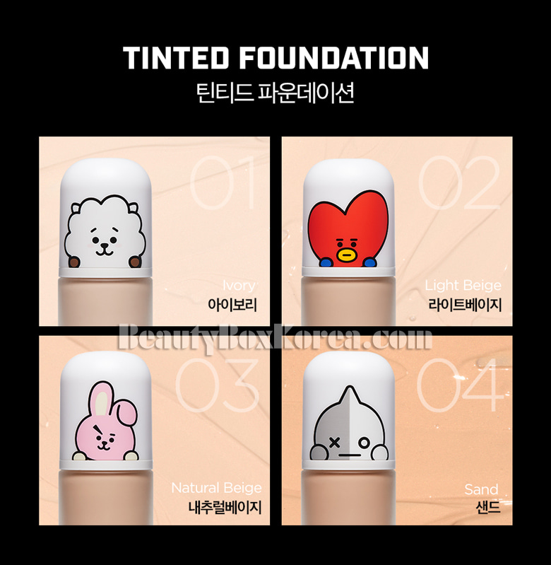 Beauty Box Korea - VT COSMETICS BT21 Tinted Foundation 30ml[VTxBT21