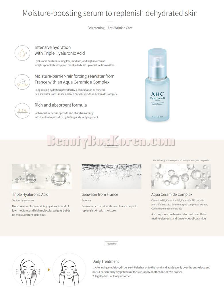 Beauty Box Korea - AHC Aqualuronic Serum 30ml | Best Price