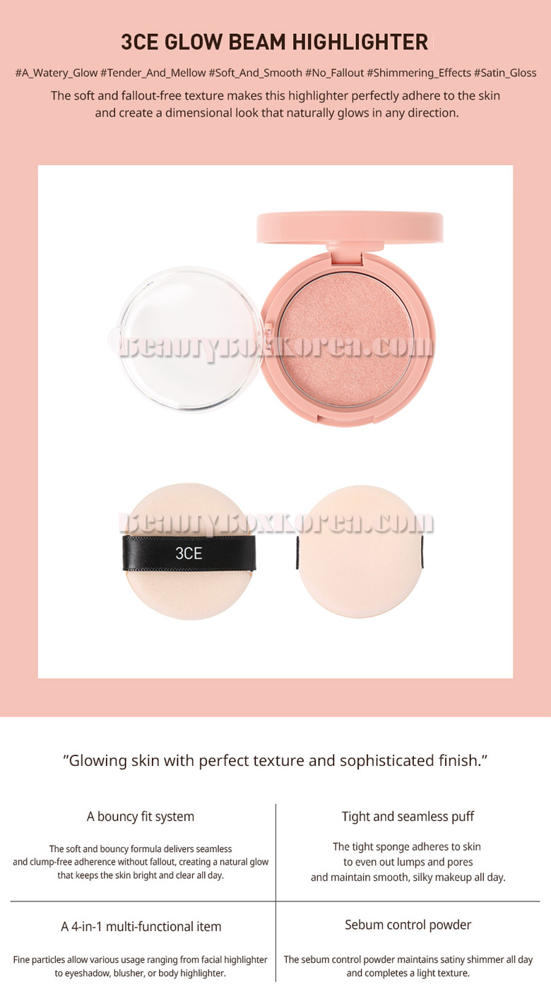 Beauty Box Korea - 3CE Glow Beam Highlighter 8 5g   Best Price and