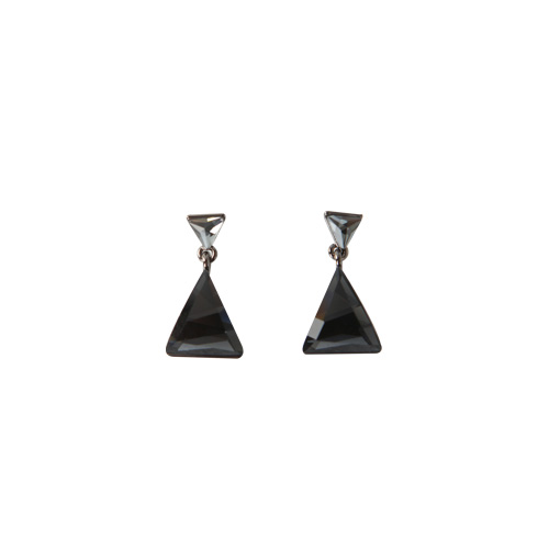 Dabagirl Faceted Triangle Earrings