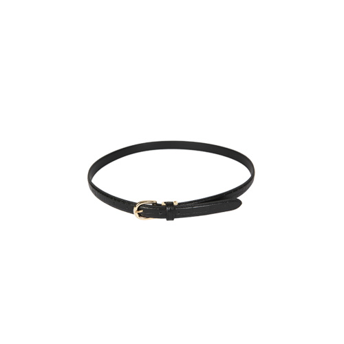 Dabagirl Rounded Buckle Textured Belt