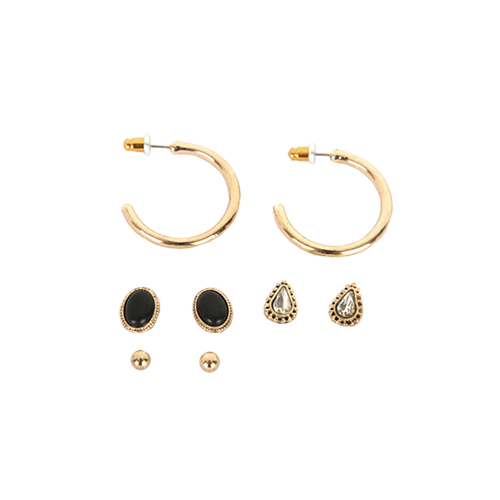 Dabagirl Vintage-Inspired 4-Pair Earrings Set