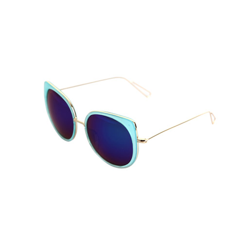Dabagirl Oversized Gilt Edge Sunglasses