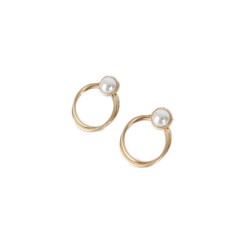 Dabagirl Faux Pearl Push-Back Earrings