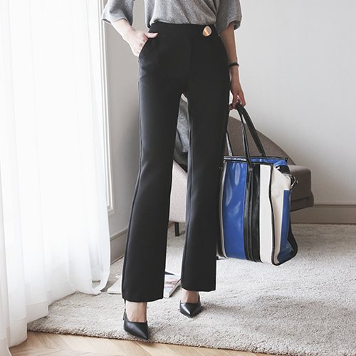 Dabagirl Regular Fit Straight-Leg Slacks