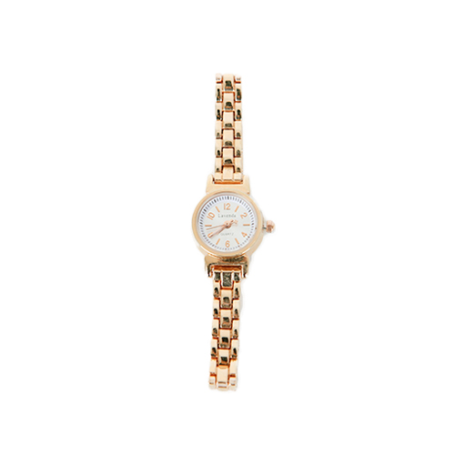 Dabagirl Metallic Round Face Wristwatch