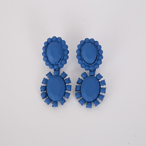 Dabagirl Solid Tone Flower Drop Earrings