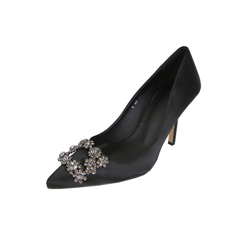 Dabagirl Embellished Pointed Toe Pumps