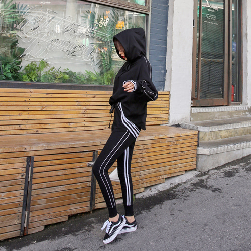 Dabagirl Side Stripe Loose Fit Hoodie and Joggers Set