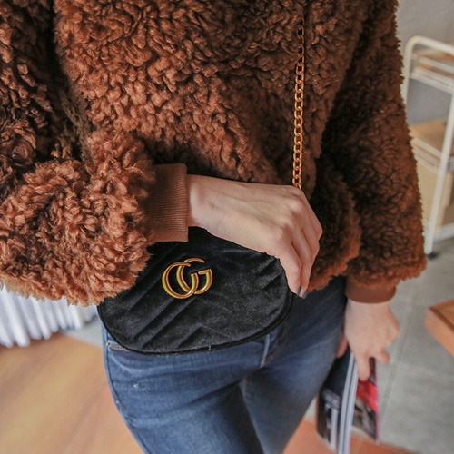 Dabagirl 2Way Velvet Chain Bag