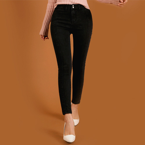 Dabagirl Two Button Skinny Ankle Jeans
