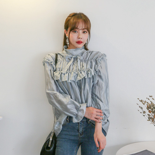 Dabagirl Frill Gathered Blouse