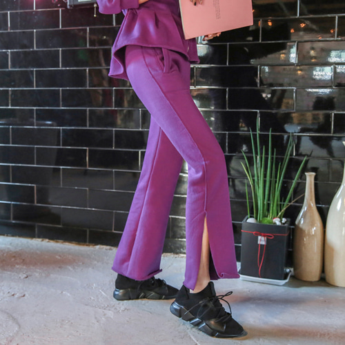 Dabagirl Side Slit Tie-Waist Sweatpants