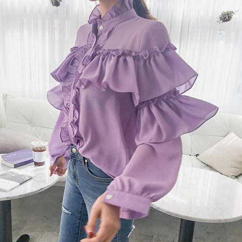 Dabagirl Frill Loose Fit Blouse
