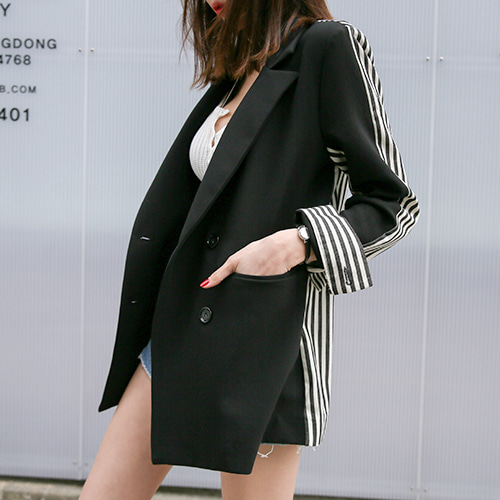 Dabagirl Side Pocket Loose Fit Blazer