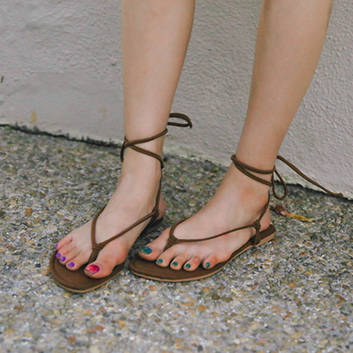 Dabagirl Toe Post Strap Sandals