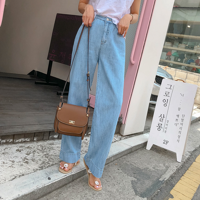 Dabagirl Straight Cut Wide Leg Jeans