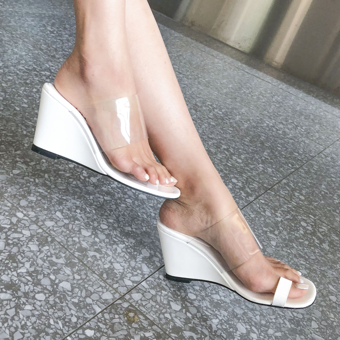 Dabagirl PVC Wedge Sandals
