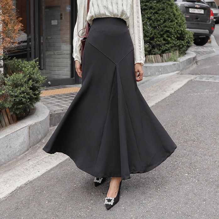 Dabagirl Fit-and-Flare Long Skirt