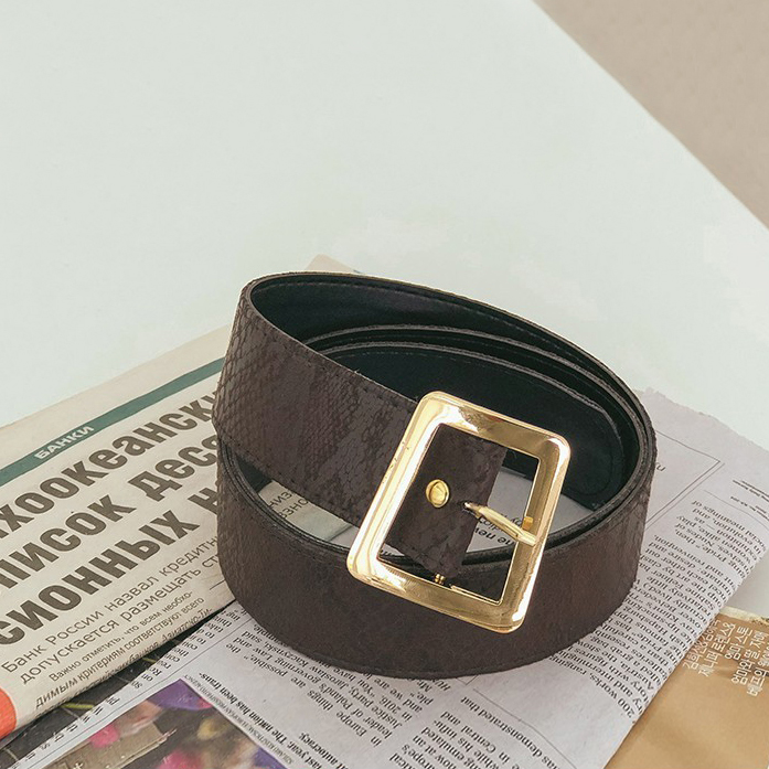 Dabagirl Snake Pattern Buckle Belt