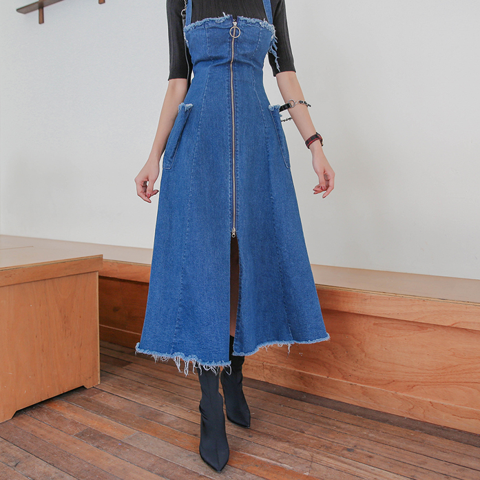 Dabagirl Frayed Denim Dress