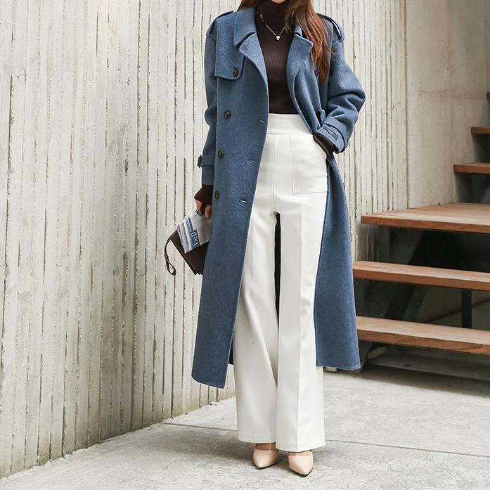 Dabagirl Double Breasted Loose Fit Trench Coat
