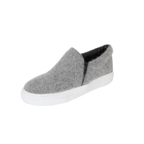 Dabagirl Round Toe Fuzzy Slip-On Sneakers