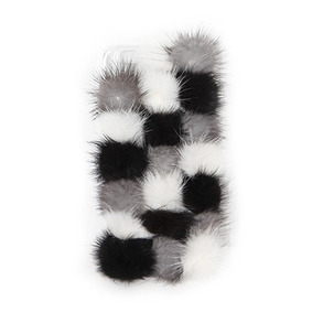 Dabagirl Fuzzy Color Block iPhone Case