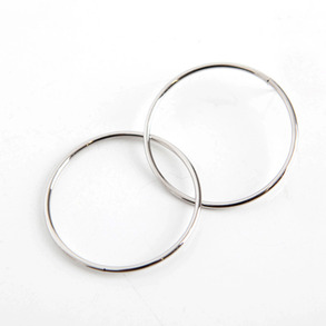 Dabagirl Linked Hoop Earrings