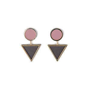 Dabagirl Circle Triangle Drop Earrings