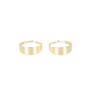 Dabagirl Thick Golden Hoop Earrings